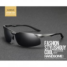 Kacamata Hitam Pria Magnesium Polarized Sunglasses - 8003 - Brown - 2