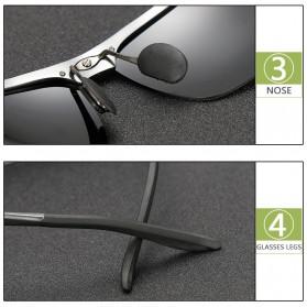 Kacamata Hitam Pria Magnesium Polarized Sunglasses - 8003 - Brown - 5