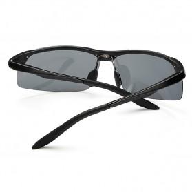 Kacamata Hitam Pria Magnesium Polarized Sunglasses - 8003 - Brown - 6