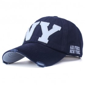 Zhengzheng Topi Baseball Cap Snapback Model NY New York - ZZ801 - Navy Blue - 1