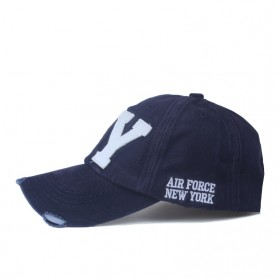 Zhengzheng Topi Baseball Cap Snapback Model NY New York - ZZ801 - Navy Blue - 2