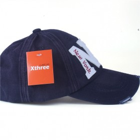 Zhengzheng Topi Baseball Cap Snapback Model NY New York - ZZ801 - Navy Blue - 3