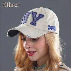Zhengzheng Topi Baseball Cap Snapback Model NY New York - ZZ801 - Navy Blue - 6