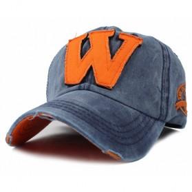 Topi Baseball Cap Snapback Model W - P12 - Blue