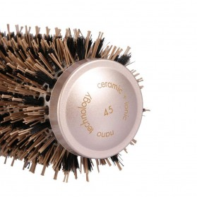 Sisir Rambut Roller Brush Hairstyling High Temperature Ionic Ceramic 32mm - LT-2001 - Golden - 7