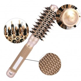 Sisir Rambut Roller Brush Hairstyling High Temperature Ionic Ceramic 53mm - LT-2001 - Golden - 4