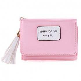 Dompet Wanita Model Happy For You Everyday - L-1003 - Pink