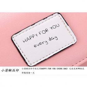 Dompet Wanita Model Happy For You Everyday - L-1003 - Pink - 6
