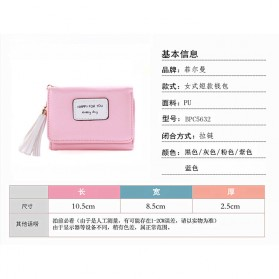 Dompet Wanita Model Happy For You Everyday - L-1003 - Pink - 7