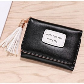 Dompet Wanita Model Happy For You Everyday - L-1003 - Black