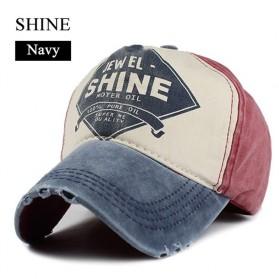 Topi Baseball Cap Snapback Model Shine - F206 - Blue/Red