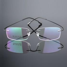 FONEX Frame Kacamata Frameless Titanium Ultra Light - JHY-295 - Brown