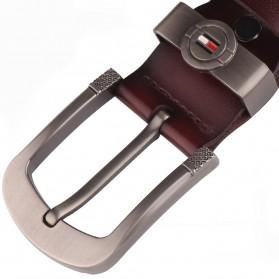 CEXIKA Tali Ikat Pinggang Kulit Leather Belt - CS75 - Black - 6