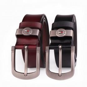 CEXIKA Tali Ikat Pinggang Kulit Leather Belt - CS75 - Black - 7