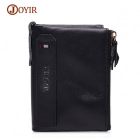JOYIR Dompet Pria Crazy Horse Model Vintage Wallet - Black