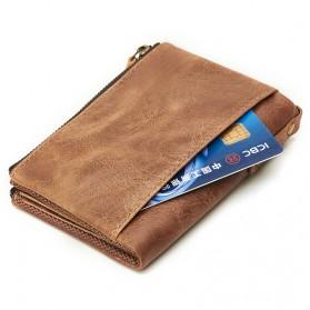 JOYIR Dompet Pria Crazy Horse Model Vintage Wallet - Black - 6