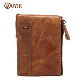 JOYIR Dompet Pria Crazy Horse Model Vintage Wallet - Brown - 1