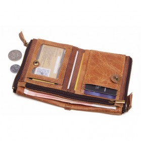 JOYIR Dompet Pria Crazy Horse Model Vintage Wallet - Brown - 3