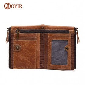 JOYIR Dompet Pria Crazy Horse Model Vintage Wallet - Brown - 5