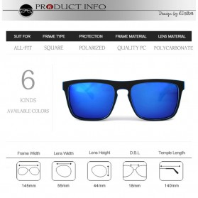 KDEAM Kacamata Pria Sunglasses Polarized Anti UV - C1 - Blue - 3