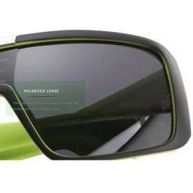 KDEAM Kacamata Pria Sunglasses Polarized Anti UV - KD2514 - Black/Green - 5
