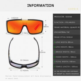 KDEAM Kacamata Pria Sunglasses Polarized Anti UV - KD2514 - Black/Green - 6