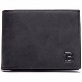BABORRY Dompet Pria Model Simple Elegant Wallet - MJ-05/06 (backup) - Black
