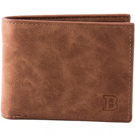 BABORRY Dompet Pria Model Simple Elegant Wallet - MJ-05/06 (backup) - Brown