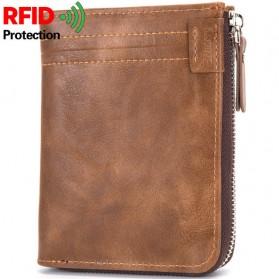 BABORRY Dompet Pria Anti RFID - FQB08 - Coffee