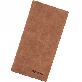 BABORRY Dompet Pria Bahan Kulit Model Panjang - A316-1 - Coffee