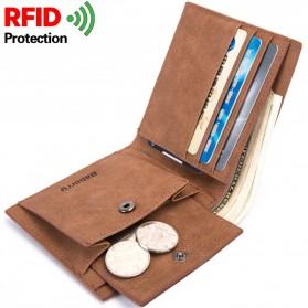 BABORRY Dompet Pria Anti RFID - FL51 - Black - 2
