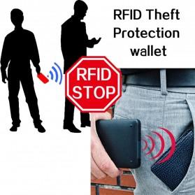BABORRY Dompet Pria Anti RFID - FL51 - Black - 3