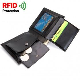 BABORRY Dompet Pria Anti RFID - FLQ52 - Brown - 2