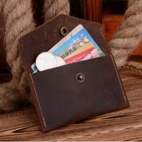 COWATHER Dompet Kartu Koin Bahan Kulit - Black - 3