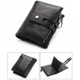 GUBINTU Dompet Pria Simple Elegant Wallet - 401 - Black