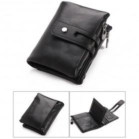 Trend Fashion Pria Terbaru - GUBINTU Dompet Pria Simple Elegant Wallet - 401 - Black