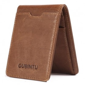 GUBINTU Dompet Pria Simple Vintage - G752 - Brown