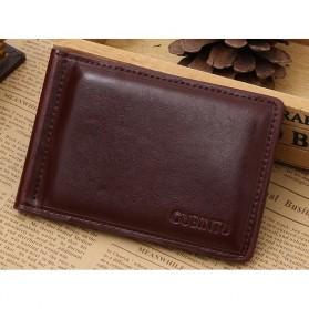 Trend Fashion Pria Terbaru - GUBINTU Dompet Pria Model Clip Wallet - 1002 - Coffee