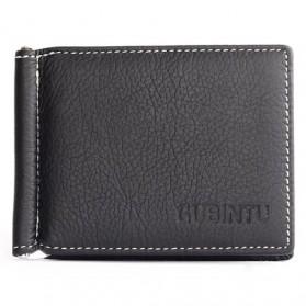 GUBINTU Dompet Pria Model Clip Wallet - BID066 - Black