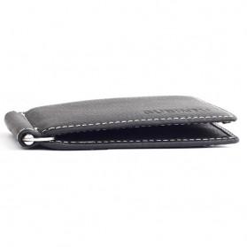 GUBINTU Dompet Pria Model Clip Wallet - BID066 - Black - 3