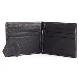 GUBINTU Dompet Pria Model Clip Wallet - BID066 - Black - 4