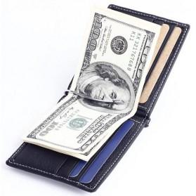 GUBINTU Dompet Pria Model Clip Wallet - BID066 - Black - 5