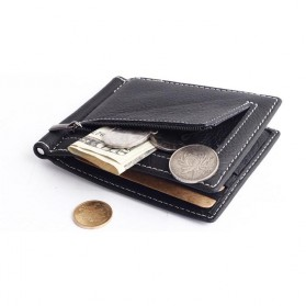 GUBINTU Dompet Pria Model Clip Wallet - BID066 - Black - 8
