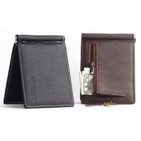 GUBINTU Dompet Pria Model Clip Wallet - BID066 - Black - 9
