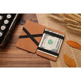 JINBAOLAI Dompet Kartu Vintage Magic Wallet - MSB003 - Coffee - 2