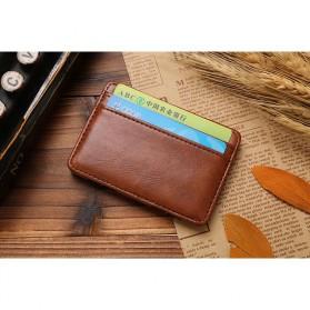 JINBAOLAI Dompet Kartu Vintage Magic Wallet - MSB003 - Coffee - 4