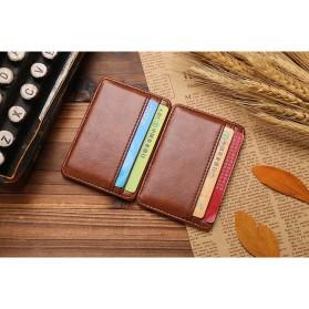 JINBAOLAI Dompet Kartu Vintage Magic Wallet - MSB003 - Coffee - 5