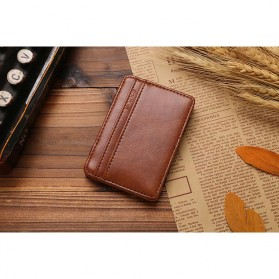 JINBAOLAI Dompet Kartu Vintage Magic Wallet - MSB003 - Coffee - 6