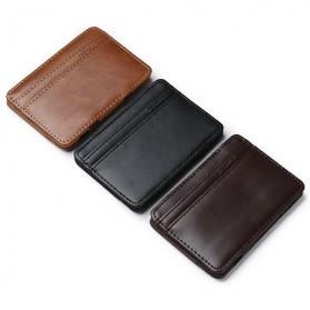 JINBAOLAI Dompet Kartu Vintage Magic Wallet - MSB003 - Coffee - 8