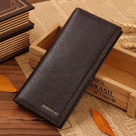 JINBAOLAI Dompet Pria Long Wallet - 8039 - Brown